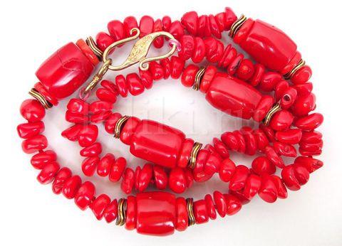 бусы из красного коралла