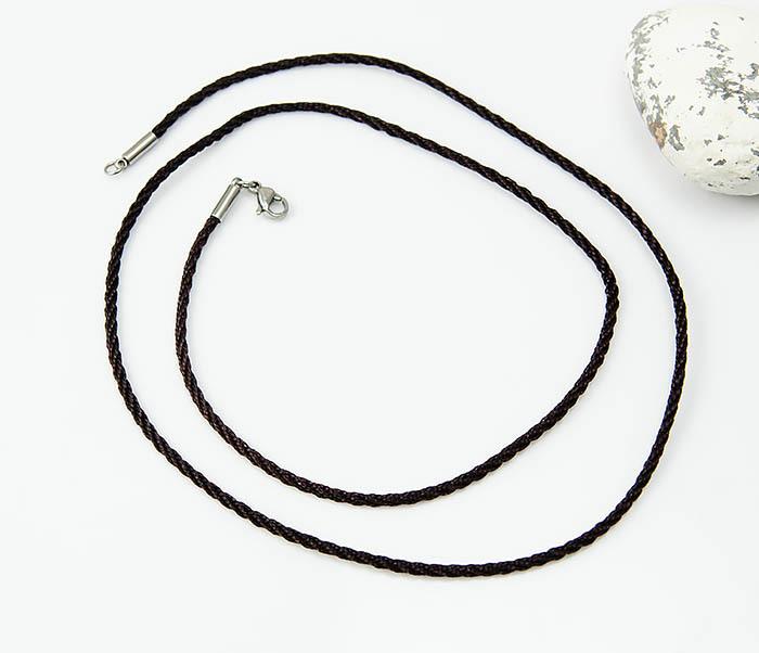 PL289-2 Плетеный шнурок гайтан для крестика из шелка фото 02