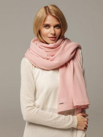 Женский шарф светло-розового цвета из 100% кашемира - фото 2