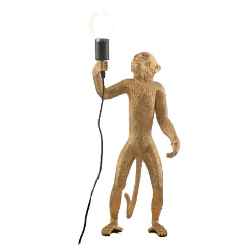 Напольный светильник копия Monkey by Seletti (золотой)
