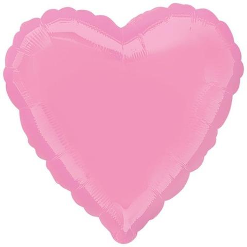 Шар-сердце неон розовый, 45 см