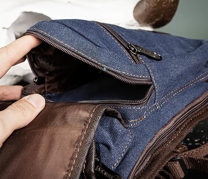 BAG506-3 Небольшая сумка на бедро из текстиля синего цвета фото 11