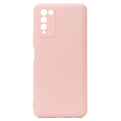 Чехол для Huawei Honor 10X Lite Софт тач мягкий эффект   микрофибра светло-розовый
