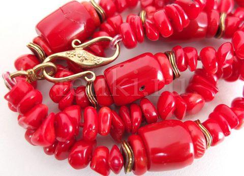 красный коралл ожерелье