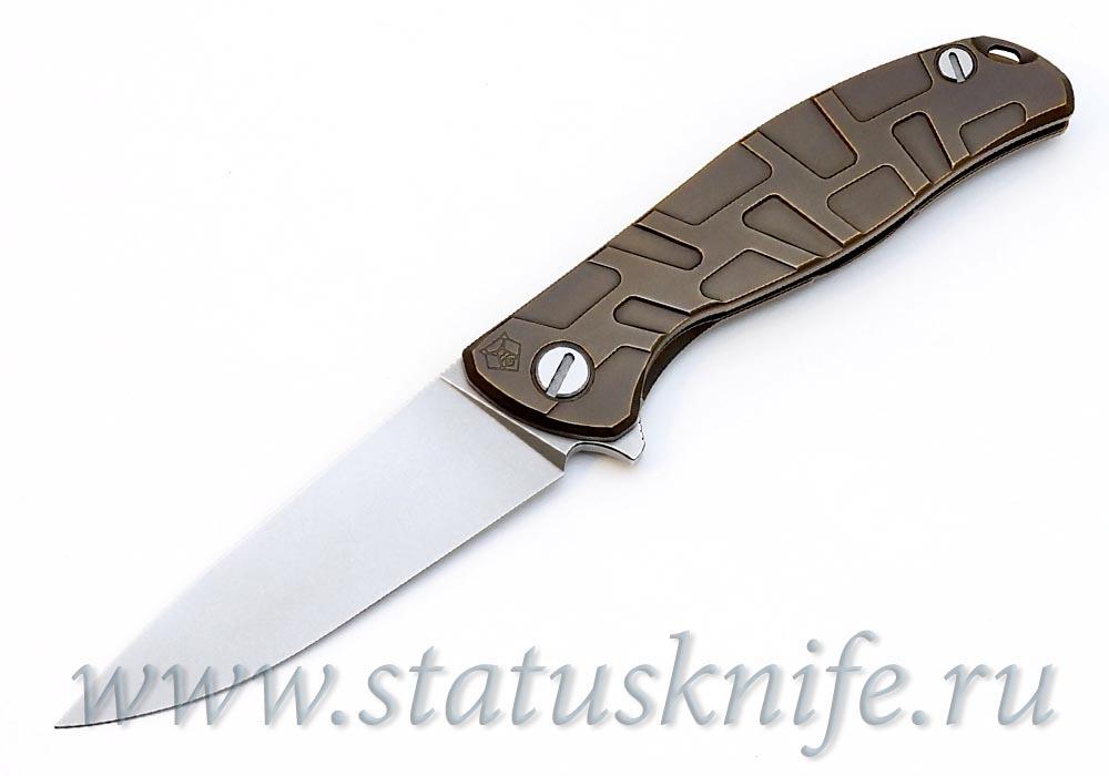 Нож Широгоров Кастом Флиппер 95 Т- узор бронза - фотография