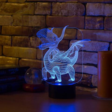 Лампа Абстракция Дракоша