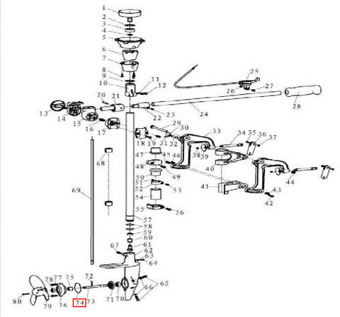 Кольцо уплотнительное 47×1.5 для лодочного мотора T3,5 Sea-PRO