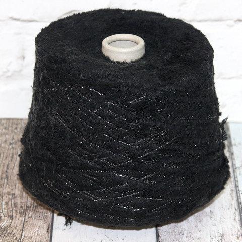 Искусственный мех CASA DEL FILATO / FUR черный с серебром