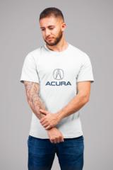 Мужская футболка с принтом Акура (Acura) белая 001