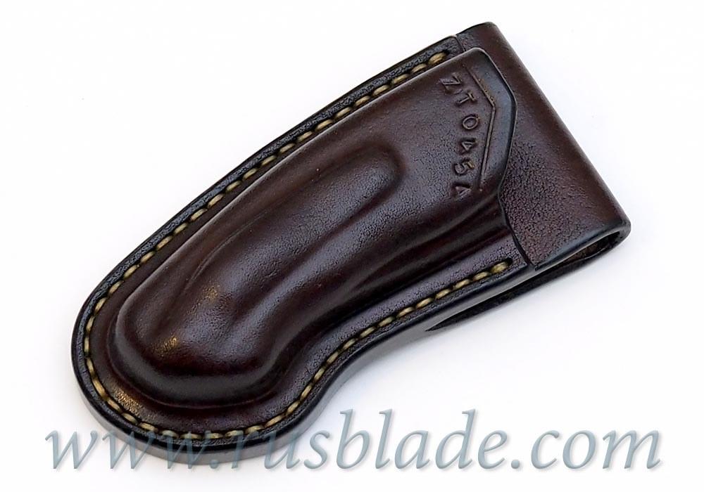 CUSTOM Handmade ZT 0454 Zero Tolerance 0454 Leather Sheath Brown