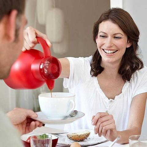 Термос-чайник Emsa Samba (1 литр), красный