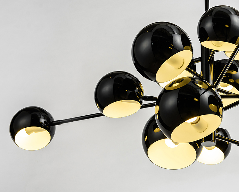 Потолочный светильник копия Kopra Burst No 433 by David Weeks Studio (черный)