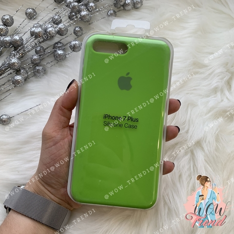 Чехол iPhone 7+/8+ Silicone Case /lime green/ салатовый 1:1