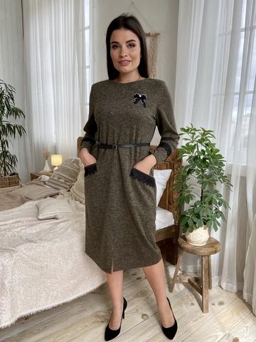 Камелия. Красивое женское платье больших размеров. Хакки