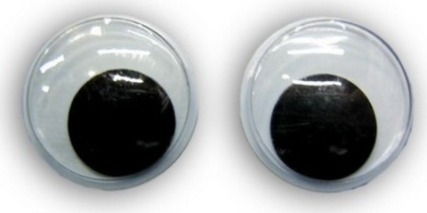Глаза для игрушек подвижные самоклеящиеся. 5 мм
