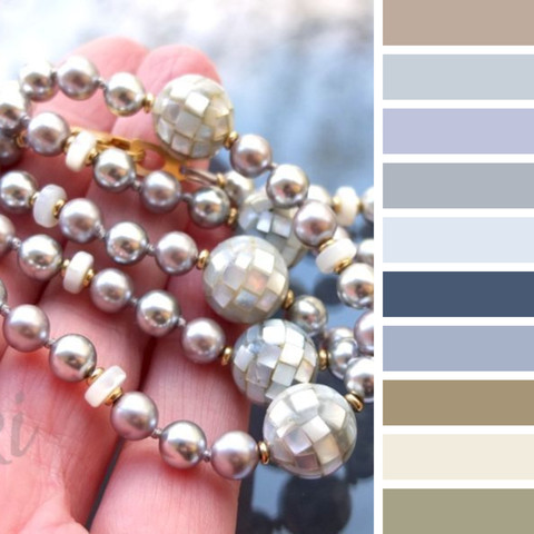 цветовая шпаргалка - с каким цветом одежды носить голубой перламутр