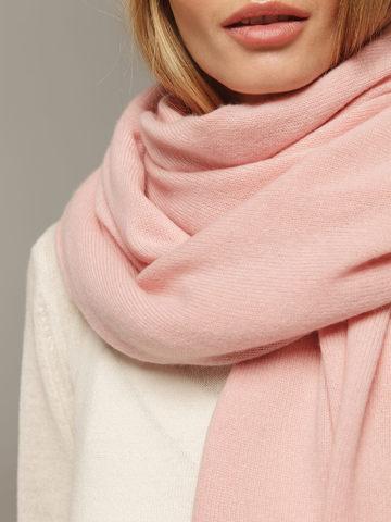 Женский шарф светло-розового цвета из 100% кашемира - фото 3