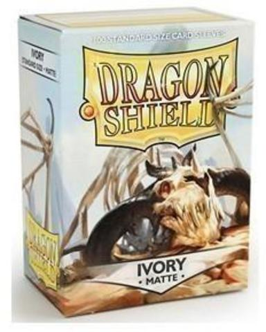 Протекторы Dragon Shield матовые Ivory (100 шт.)