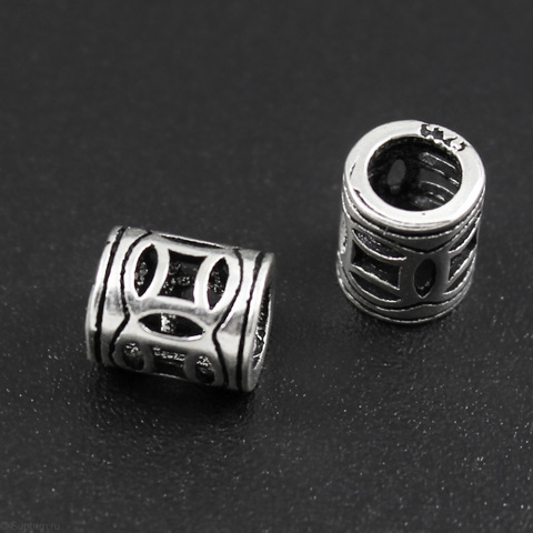 Бусина Аргентина 7х5,8 мм серебро 925