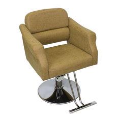 Парикмахерское кресло МД-370 гидравлика хром, круг хром со съемной подножкой