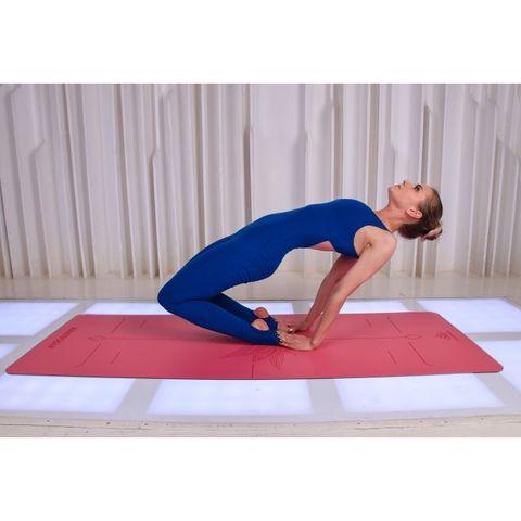 Каучуковый тревел коврик для йоги Art-Lotos Pink 185*68*0,2 см