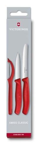 Набор из 3 ножей для овощей SwissClassic с овощечисткой VICTORINOX 6.7111.31