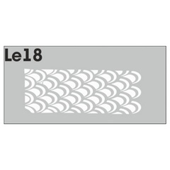 Трафарет для ногтей 3 шт. /1 уп. № LE18