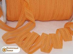 Резинка ажурная для повязок оранжевая  ширина 16 мм
