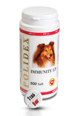 """POLIDEX """"Иммунити Ап"""" повышает иммунитет у щенков и собак мелких и средних пород"""