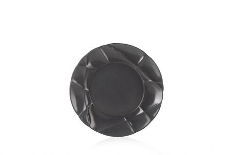 Фарфоровая десертная тарелка  21 см, черная, артикул 650731, серия Succession