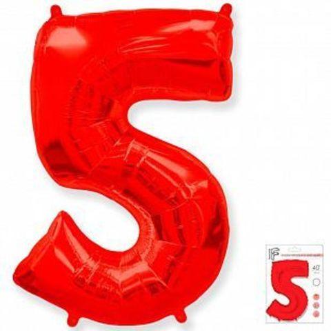 Цифра пять - красная