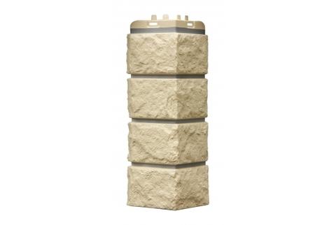 Наружные углы к фасадным панелям GRAND LINE Колотый камень  Премиум Шампань