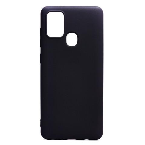 Чехол для Samsung (A217) Galaxy A21s Софт тач мягкий эффект   микрофибра черный
