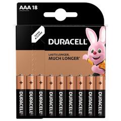 Батарейки Duracell мизинчиковые ААA LR03 (18 штук в упаковке)