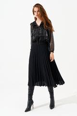 Полупрозрачная блуза
