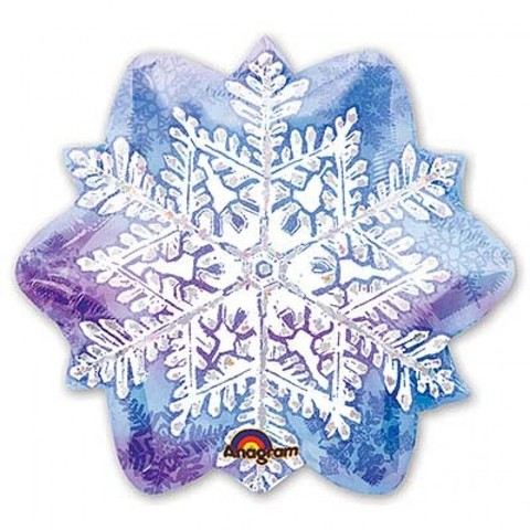 Фольгированный шар Снежинка узор