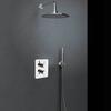 Встраиваемый термостатический смеситель для душа с душевым комплектом DRAKO K3387011 на 2 выхода - фото №1