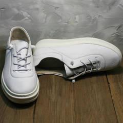 Стильные белые кроссовки женские осенние Rozen M-520 All White.
