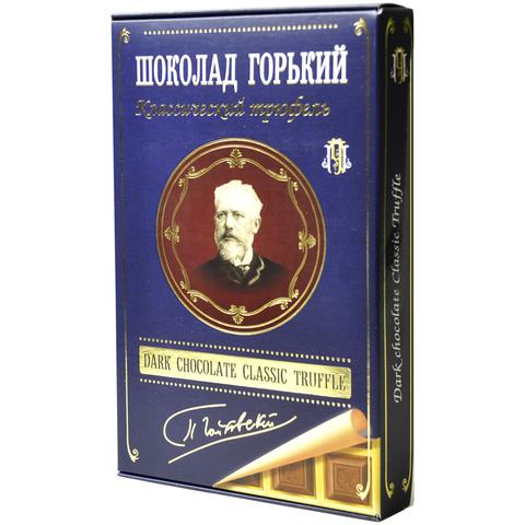 Шоколад горький с начинкой Классический трюфель Серия П.Чайковский 112 гр