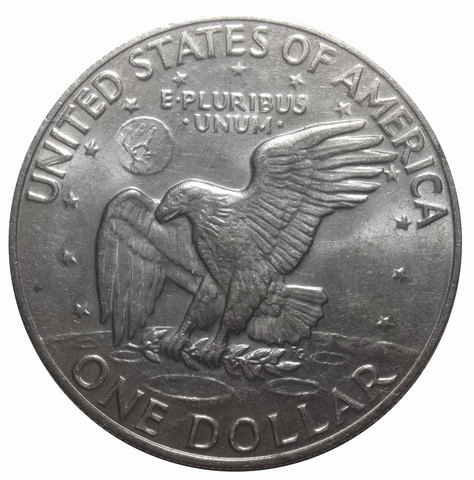 1 доллар 1974 США Эйзенхауэр XF (Лунный)