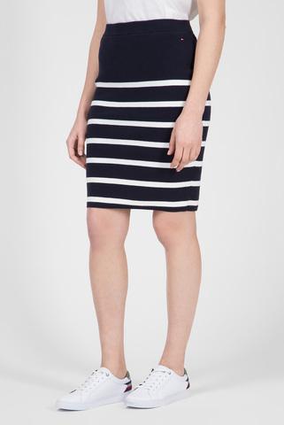 Женская темно-синяя юбка в полоску SANDRAH Tommy Hilfiger