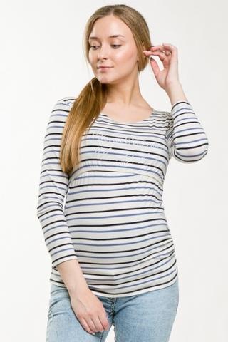 Лонгслив для беременных и кормящих 08916 бежевый