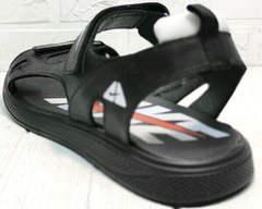 Летние кожаные босоножки сандали с открытой пяткой Nike 40-3 Leather Black.