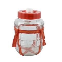 Банка стеклянная 9 литров, с гидрозатвором, крышкой и оплеткой