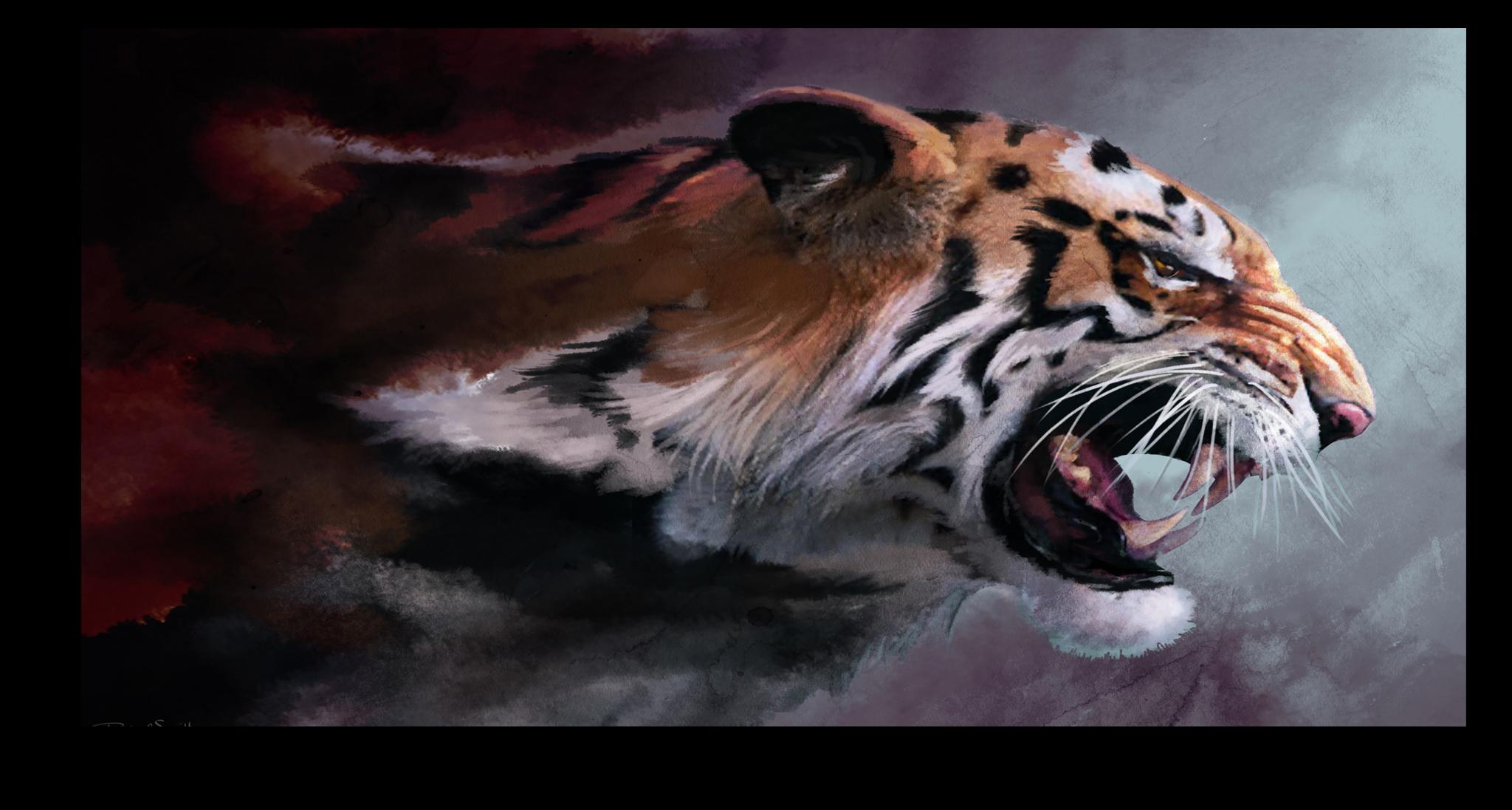 """Постеры Постер """"Агрессивный тигр"""" п144.png"""