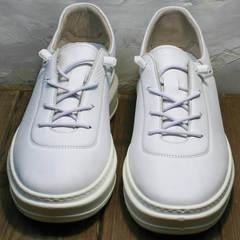 Женские белые кеды кроссовки без шнурков Rozen M-520 All White.