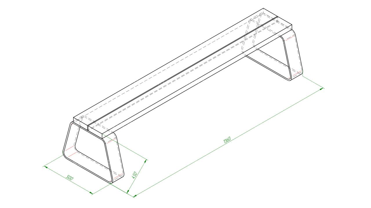 Скамейка SCAM0143
