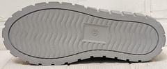 Женские белые кроссовки туфли на плоской подошве женские Guero G146 508 04 White Gray.
