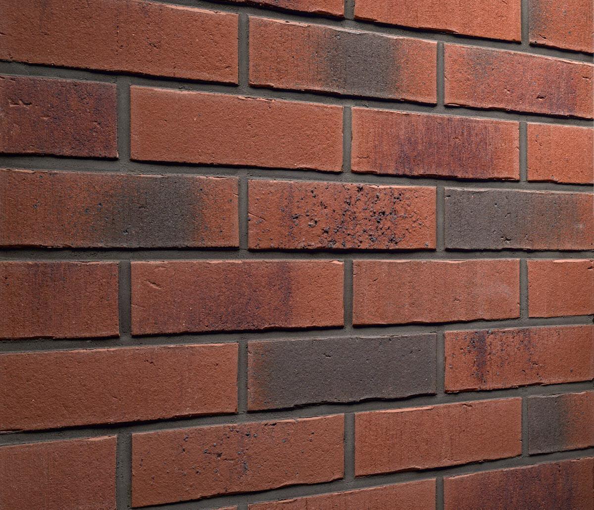 Feldhaus Klinker - R754NF14, Vascu Carmesi Carbo, 240x14x71 - Клинкерная плитка для фасада и внутренней отделки