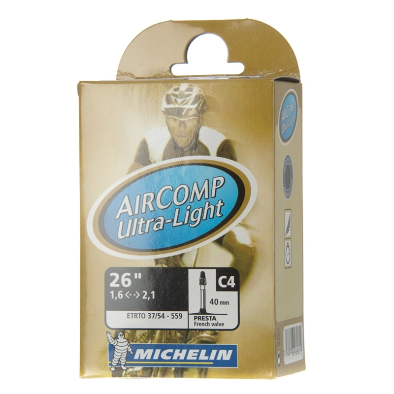 "Камера MICHELIN C4 COMP Ultra-Light 37/54X559 в упаковке, вентиль presta 40мм 26"""
